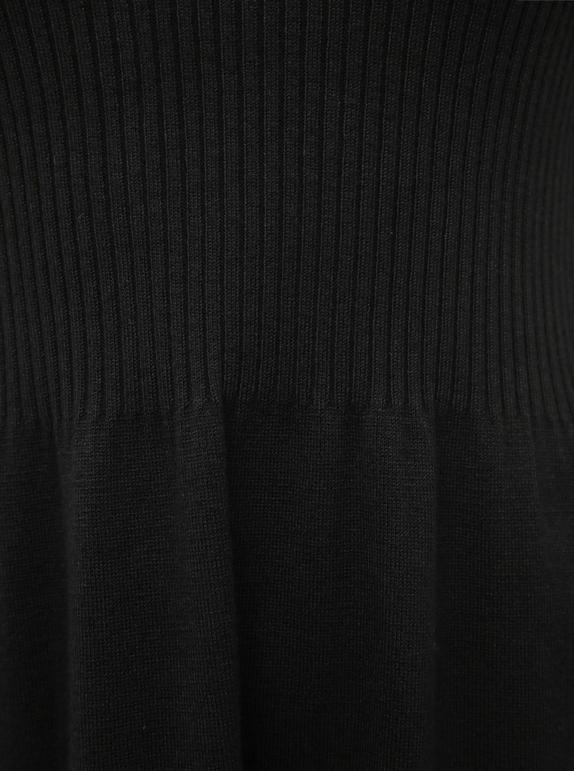 Abito maglione nero SOLO Alma