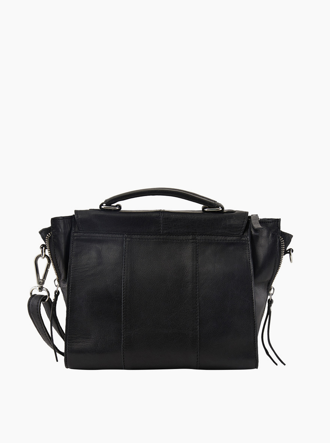 Borsa a tracolla in pelle nera Pieces