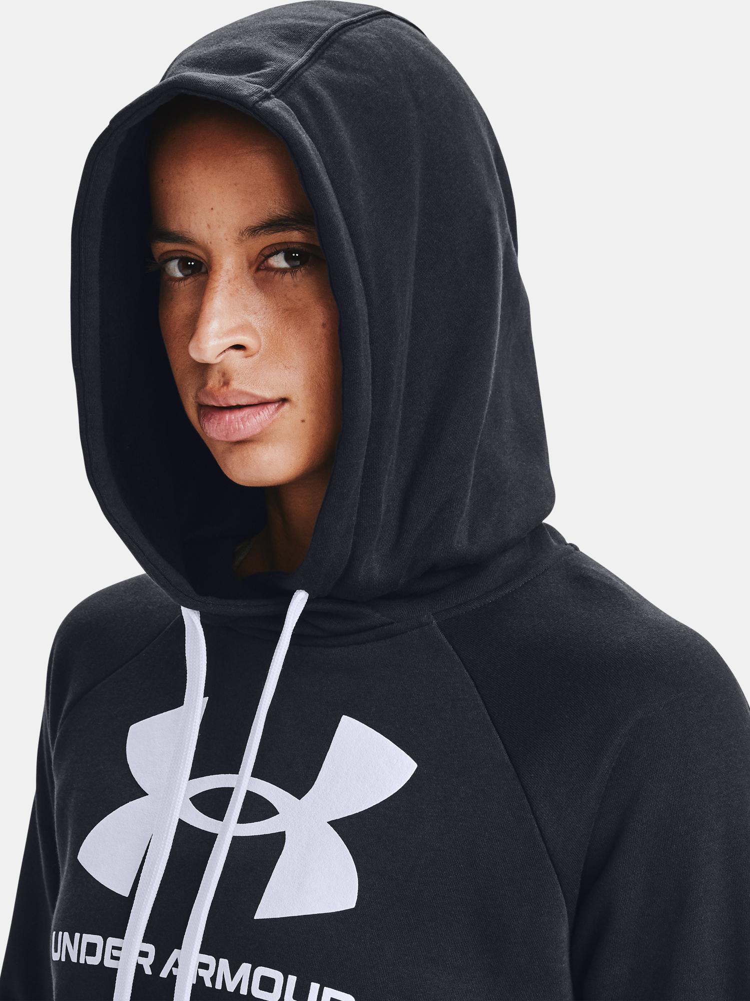 Felpa Under Armour Rival Fleece Logo Hoodie-BLK