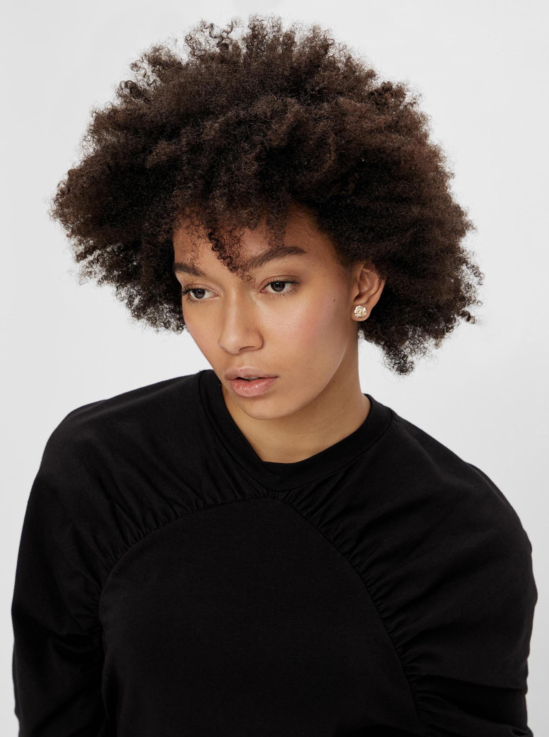 Pieces nero da donna maglietta