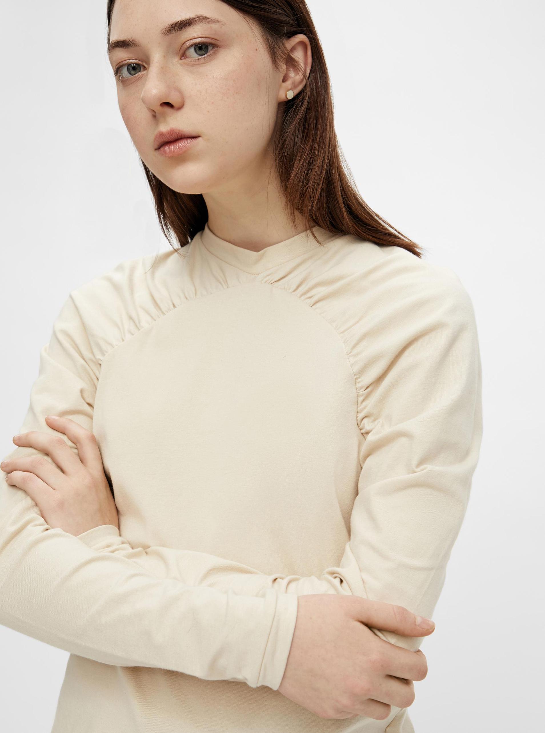 Pieces crema da donna maglietta