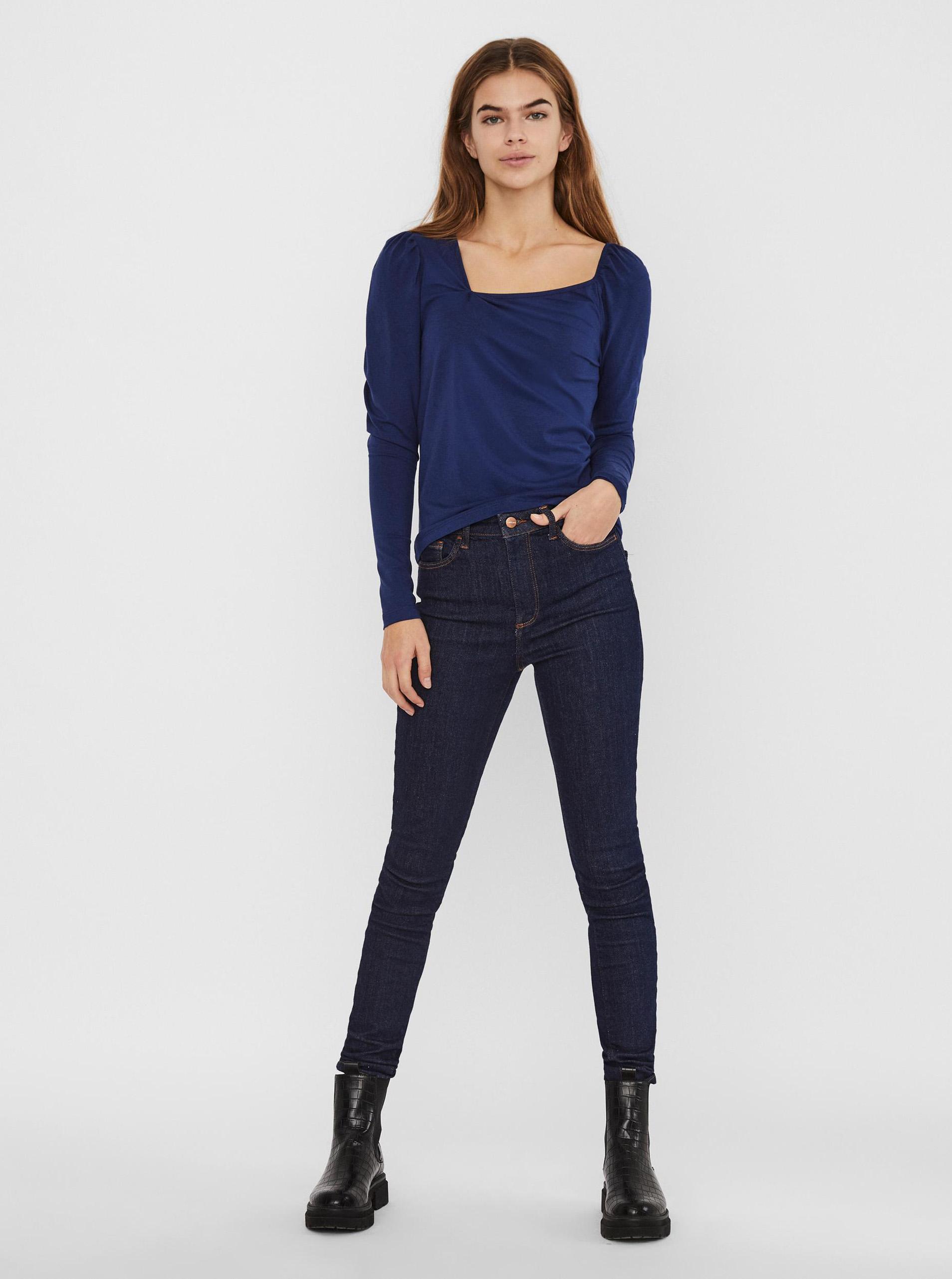 Vero Moda blu maglietta