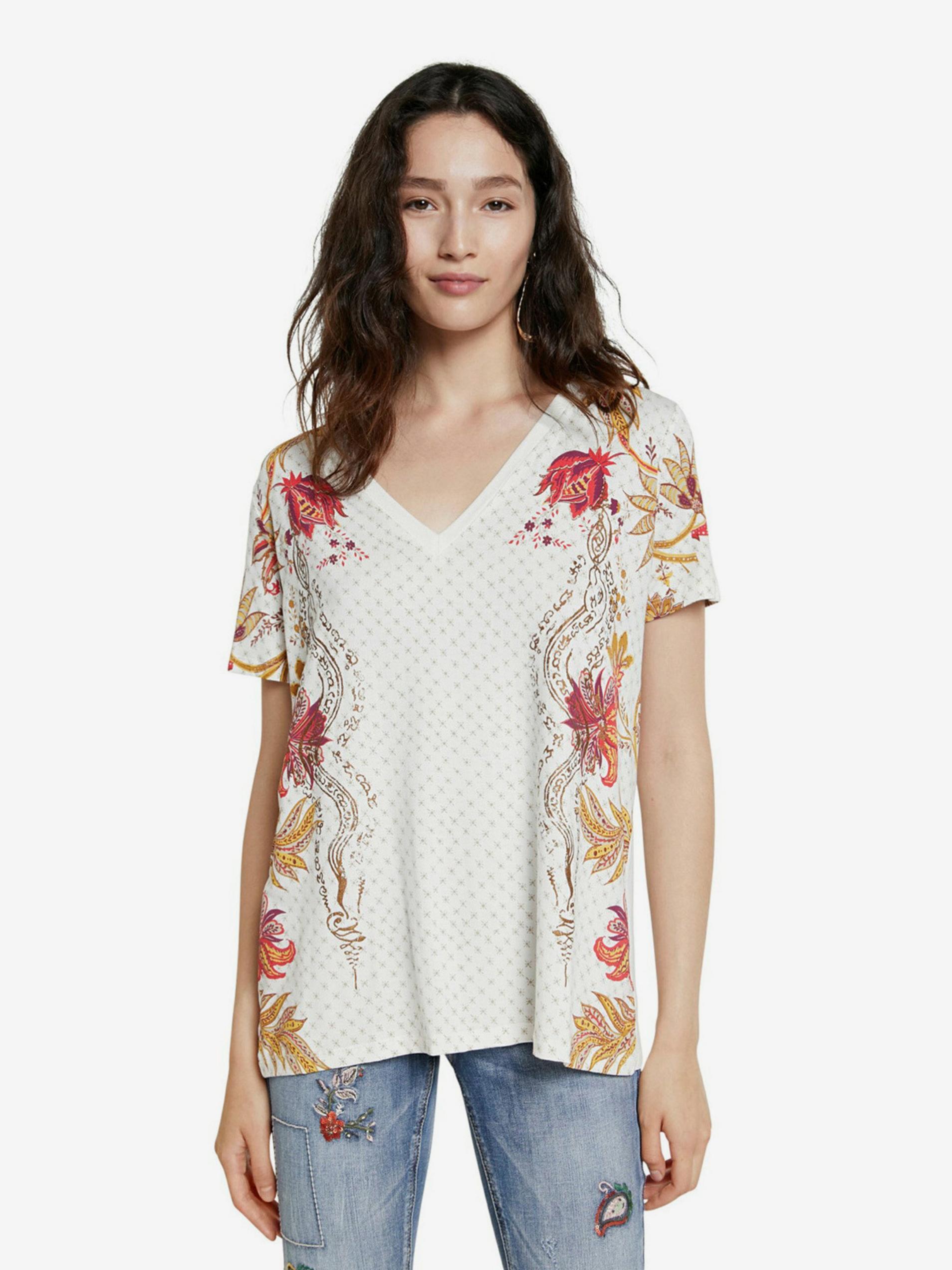 Desigual bianco maglietta TS Praga