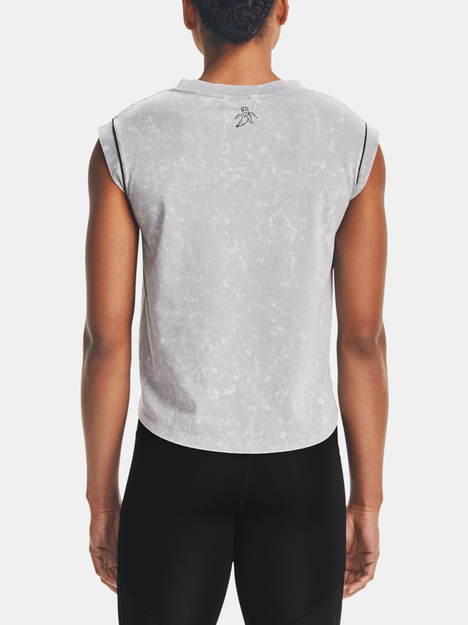 Under Armour da donna maglietta UA Give Pace A Chance SS-GRY