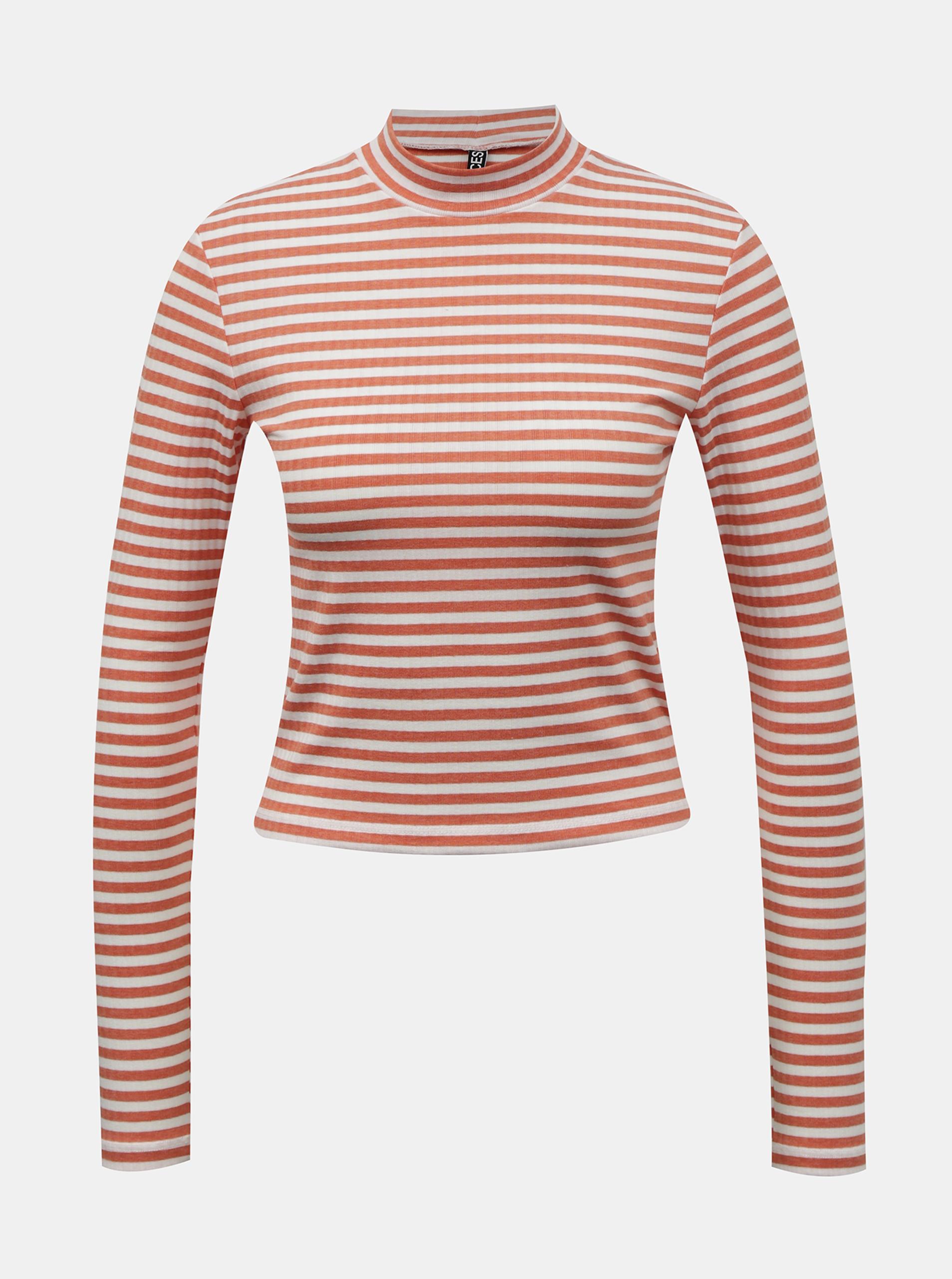 Pieces arancione da donna maglietta Raya
