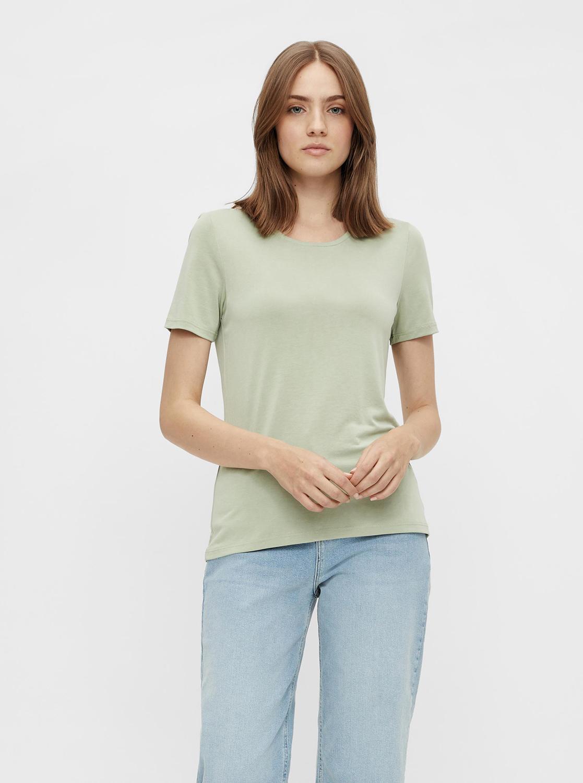 Pieces verde basic maglietta Kamala