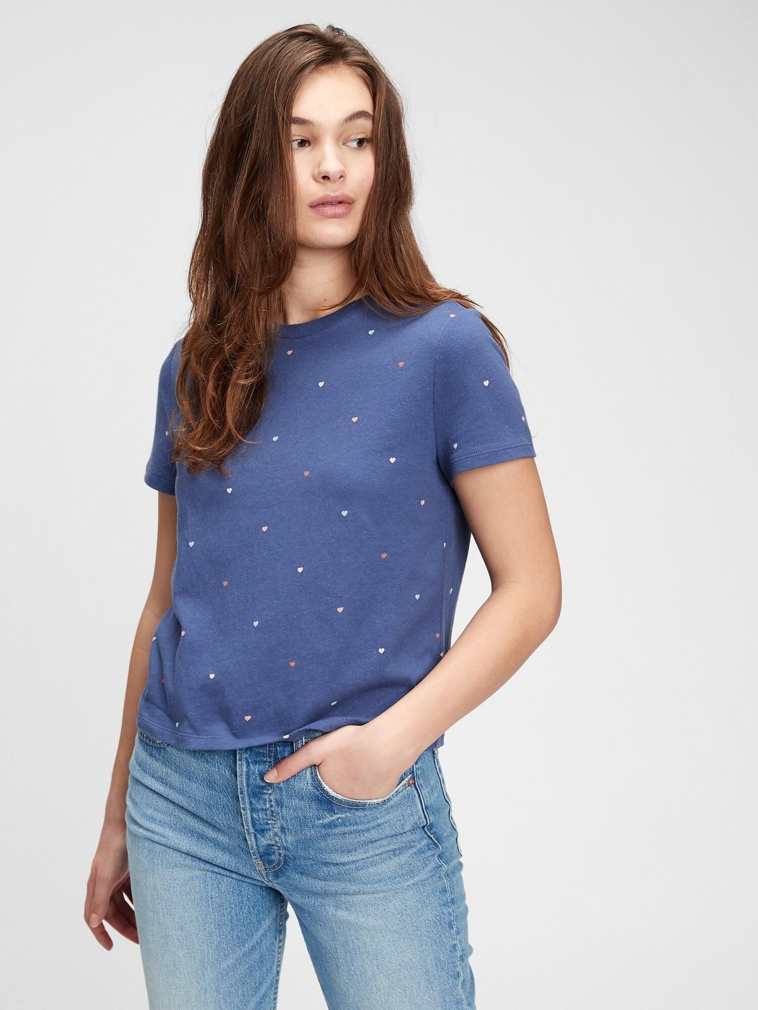 GAP blu da donna maglietta ss shrunken te