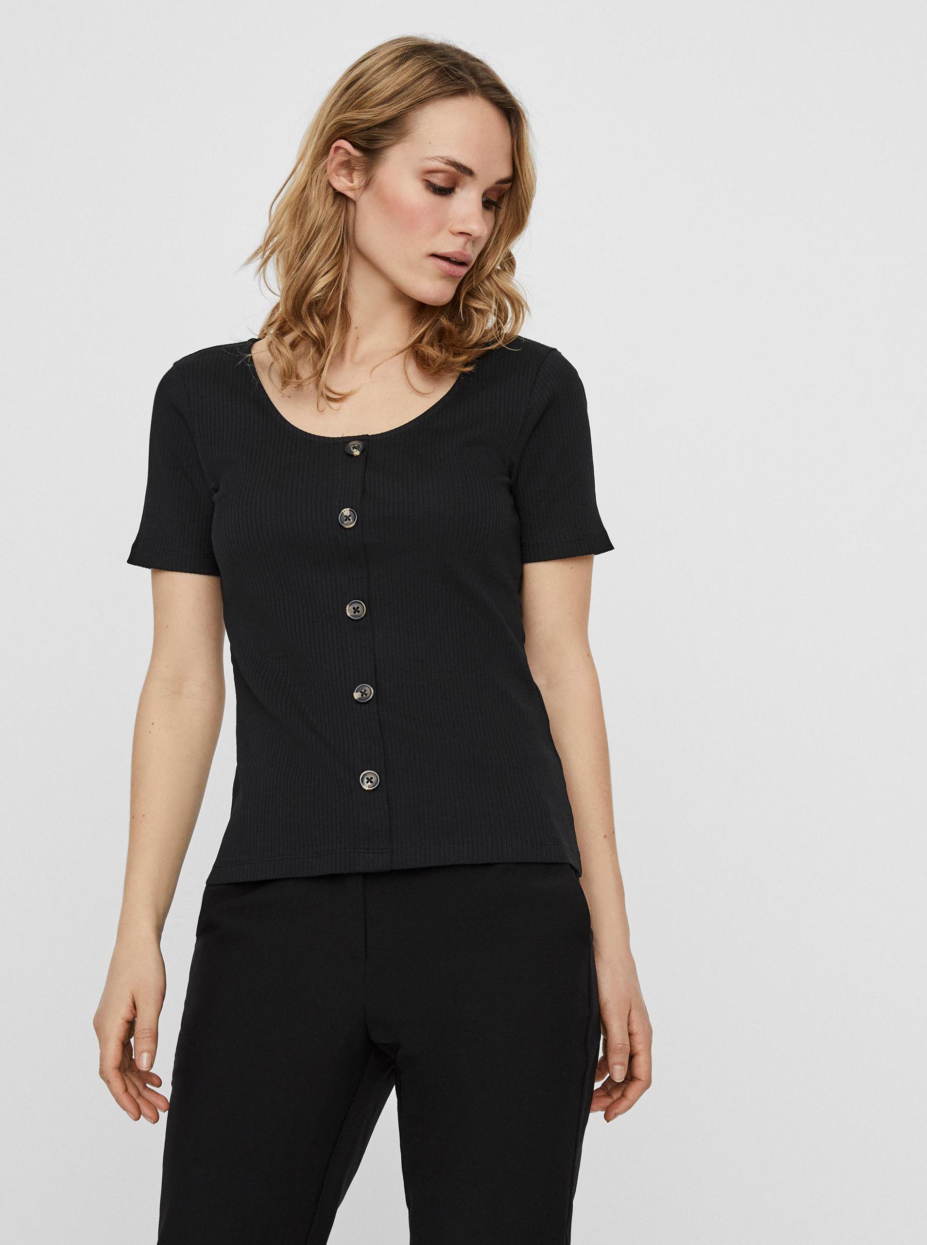 Vero Moda nero maglietta Helsinki