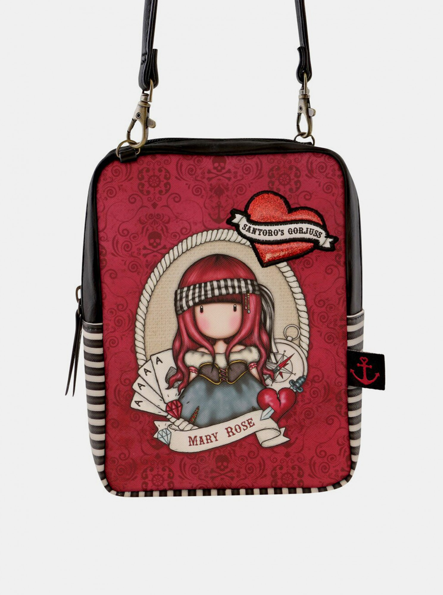 Santoro rosso crossbody borsetta Gorjuss Pirates Mary Rose