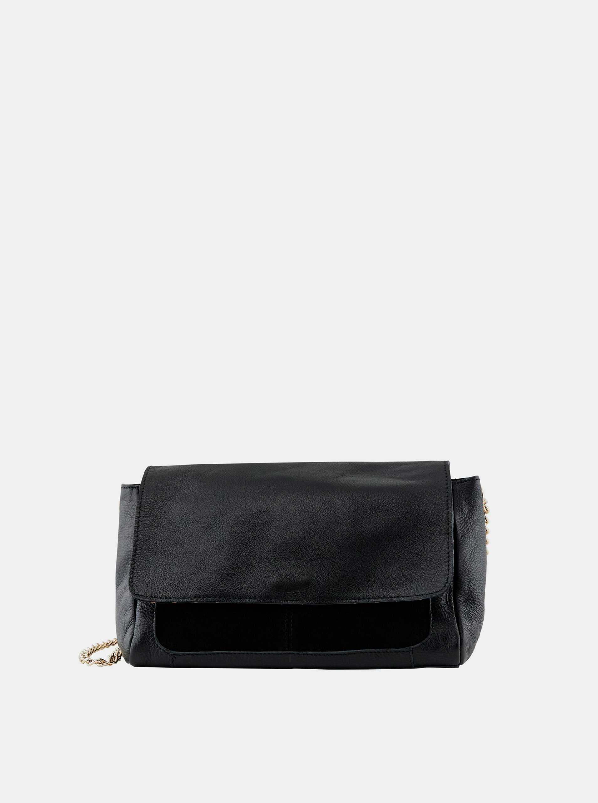 Pieces nero in pelle crossbody borsetta Gunna