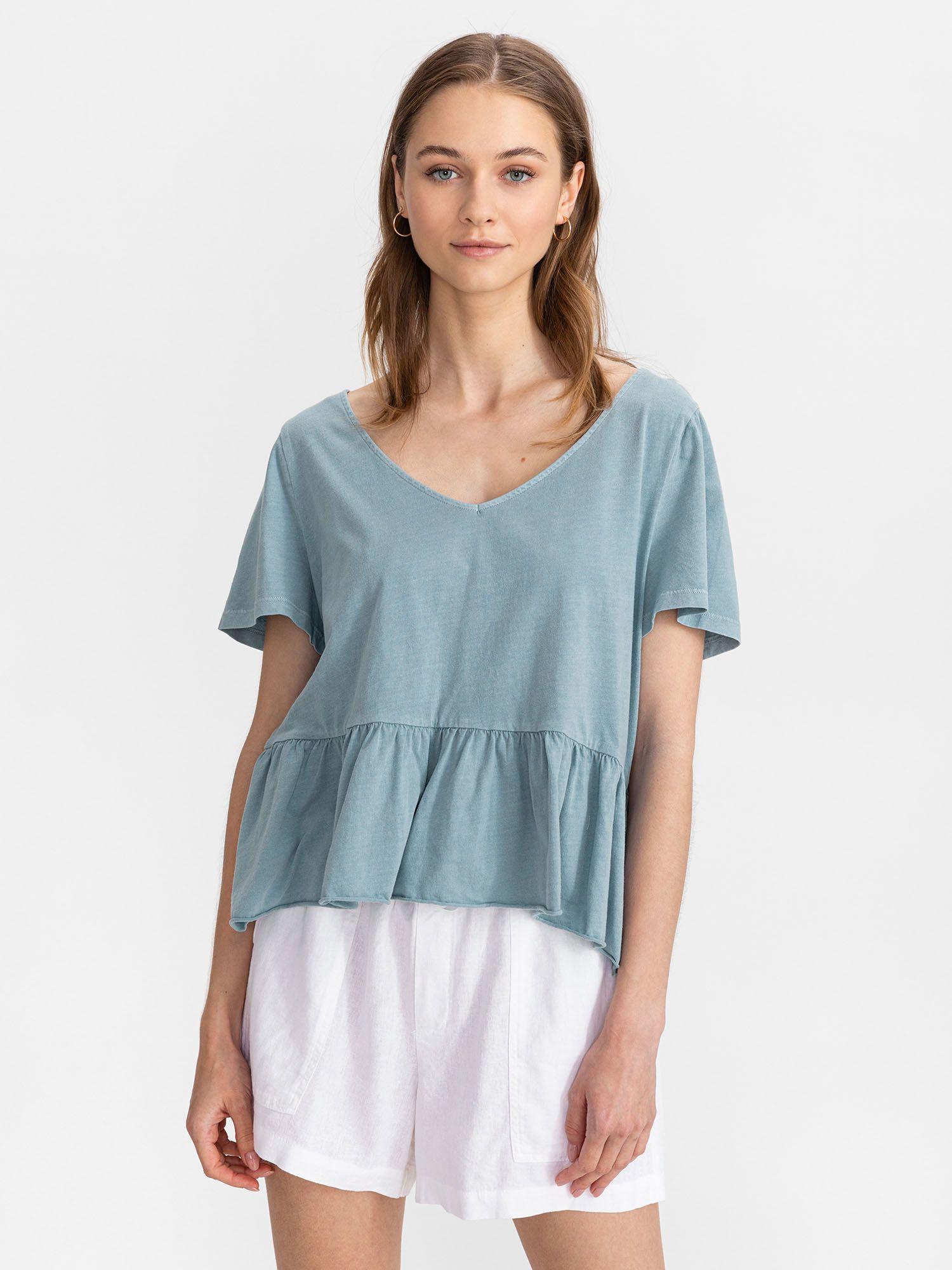GAP blu maglietta Vintage Peplum